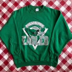 80's Philadelphia Eagles Trench NFL Crewneck Sweatshirt