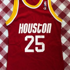 1993 Robert Horry Houston Rockets Champion NBA Jersey Size 40