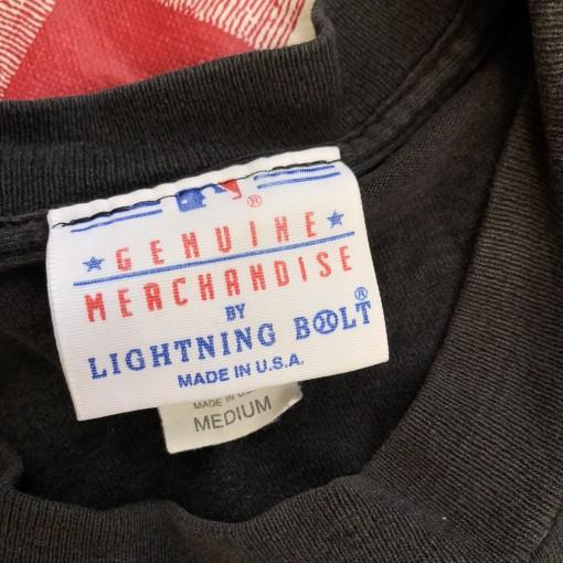 1994 New York Yankees Lightning Bolt MLB T-shirt Size Medium
