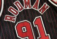 1997 Dennis Rodman Chicago Bulls Authentic Gold Logo Champion NBA Jersey Size 48