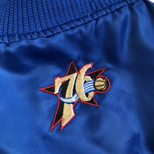 2001 Philadelphia Sixers Nike NBA Satin Bomber Jacket