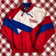 90's Philadelphia Phillies Apex One Windbreaker Jacket Size Medium