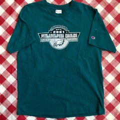 2001 Philadelphia Eagles Training Camp Champion NFL T Shirt Size XL