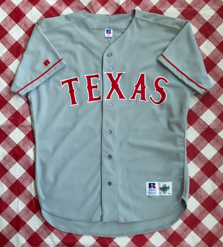 sale retailer ffb58 9665d 1994 Ivan Pudge Rodriguez Texas Rangers Authentic Russell MLB Jersey Size 48