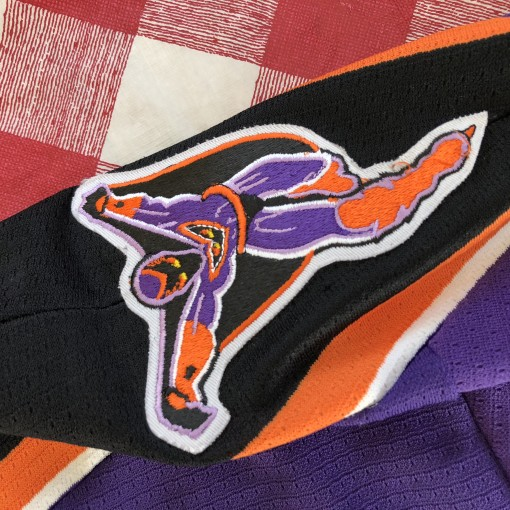 1996 Philadelphia Phantoms Bauer Purple AHL Jersey Size XXL