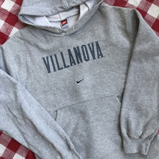 90's Villanova University NCAA Nike Grey Sweatshirt Size Large