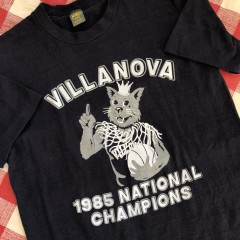 1985 Villanova Wildcats NCAA Champions Jerzees Shirt Size Medium