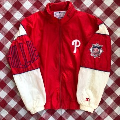90's Philadelphia Phillies Starter Windbreaker Jacket Size Medium