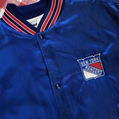 90's New York Rangers NHL Swingster Satin Jacket Size XL