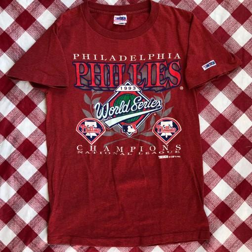 1993 Philadelphia Phillies National League Champs MLB T Shirt Size Medium
