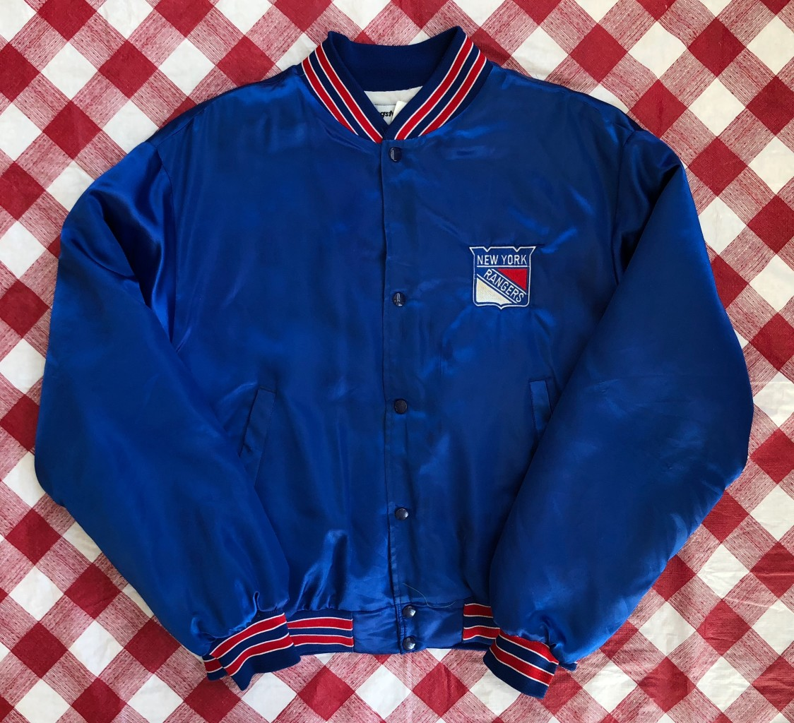 c85591ab7c5c 90 s New York Rangers NHL Swingster Satin Jacket Size XL