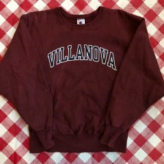 90's Villanova University NCAA Champion Maroon Reverse Weave Crewneck Sweatshirt