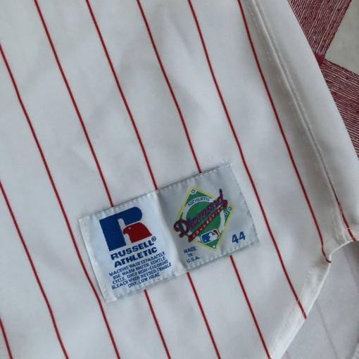 90's Deion Sanders Cincinnati Reds Authentic Russell MLB Jersey Size 44