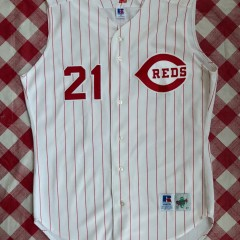 90's Deion Sanders Cincinnati Reds Authentic Russell MLB Jersey Size 44