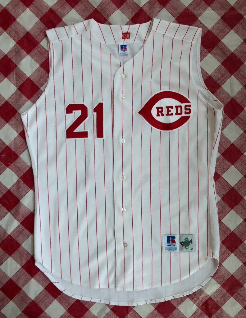 more photos 5a79e 6c106 90's Deion Sanders Cincinnati Reds Authentic Russell MLB Jersey Size 44