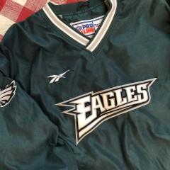 90's Philadelphia Eagles Reebok Pro Line Pullover NFL Jacket Size Large