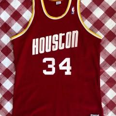 80's Hakeem Olajuwon Houston Rockets Sandknit NBA Jersey