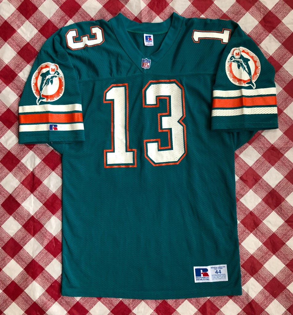 wholesale dealer f1b2e 469b8 1992 Dan Marino Miami Dolphins Authentic Russell NFL Jersey Size 44