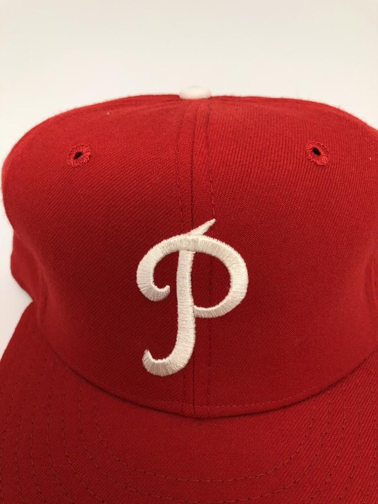 9c357baa3a8 1950-69 Philadelphia Phillies New Era MLB Retro Fitted Hat Size 7 1 ...