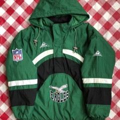 90's Philadelphia Eagles Apex One NFL Pullover Jacket Size Medium