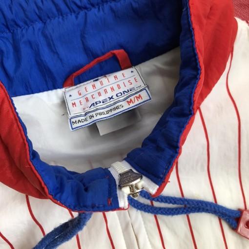 90's Philadelphia Phillies Apex One Windbreaker Jacket Size Medium