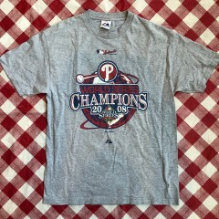 2008;Philadelphia Phillies World Series Champs Majestic MLB T Shirt Size Large