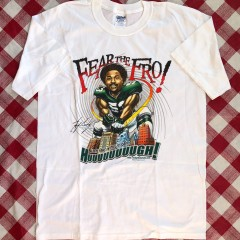 2003 Hugh Douglas Fear The Fro Philadelphia Eagles NFL T Shirt