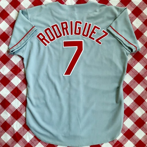 1994 Ivan Pudge Rodriguez Texas Rangers Authentic Russell MLB Jersey Size 48