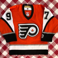 2002 Jeremy Roenick Philadelphia Flyers Koho Orange Alternate NHL Jersey Youth S/M