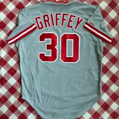 1989 Ken Griffey SR Cincinnati Reds Authentic Rawlings MLB Jersey Size 48