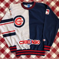 90's Chicago Cubs Champion MLB Crewneck Sweatshirt Size Small