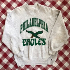 90's Philadelphia Eagles Russell NFL Crewneck Sweatshirt Size Large