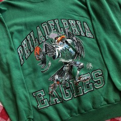 1988 Philadelphia Eagles Jack Davis Cartoon NFL Crewneck Sweatshirt Size Large