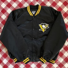90's Pittsburgh Penguins Chalkline NHL Satin Jacket Size XXL