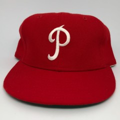 new arrival 5611e b329b 1950-69 Philadelphia Phillies New Era MLB Retro Fitted Hat Size 7 1 8