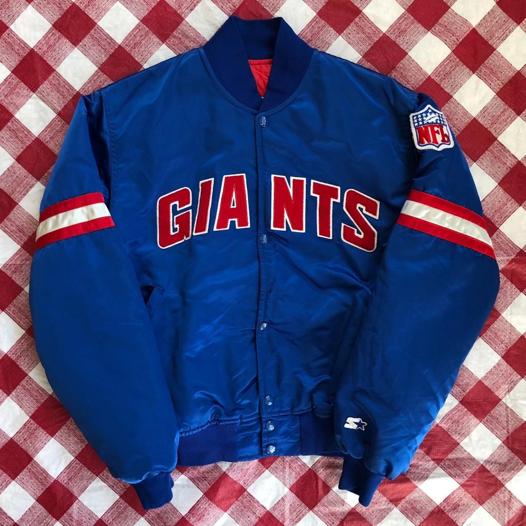cheaper b8565 4c602 90's New York Giants Satin Starter NFL Jacket Size Medium