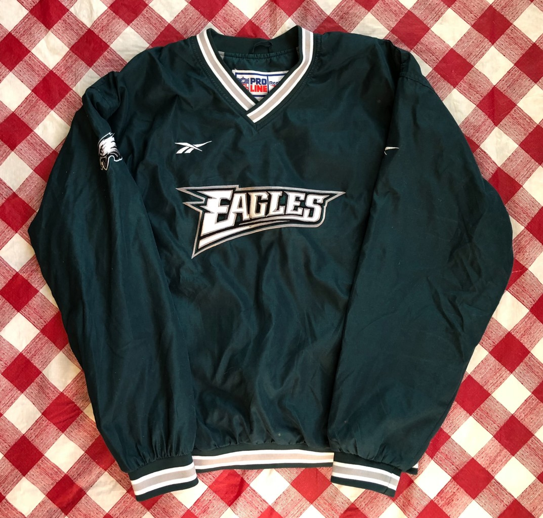 super popular 820d9 26e6d 90's Philadelphia Eagles Reebok Pro Line Pullover NFL Jacket Size Large