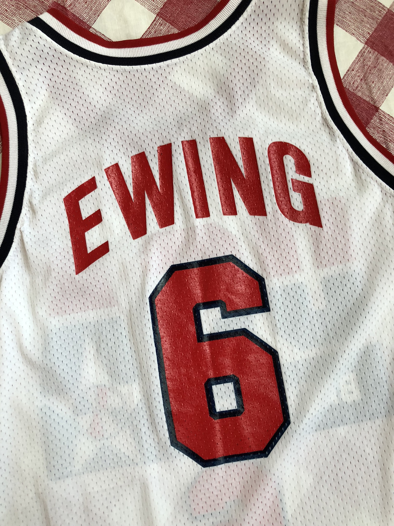 6a6ef8a3 1992 Patrick Ewing Team USA Dream Team Champion Jersey Size 40 ...