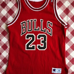 1991 Michael Jordan Chicago Bulls Authentic Champion NBA Jersey Size 44