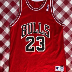 1992 Michael Jordan Chicago Bulls Champion NBA Jersey Size 48