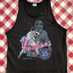 1989 Don Mattingly New York Yankees Salem Sportswear MLB Tank Size XL
