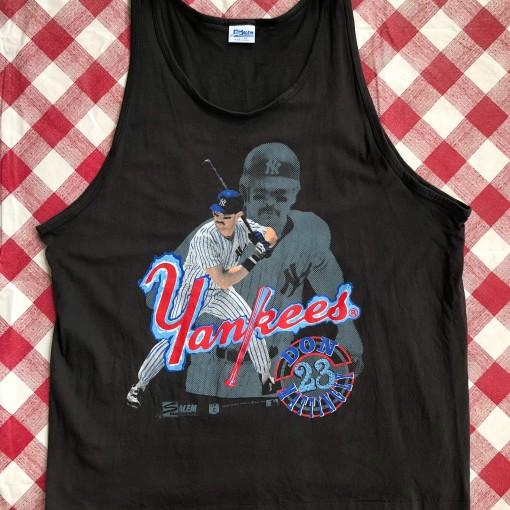 1989 Don Mattingly New York Yankees Salem Sportswear MLB Tank Size XL
