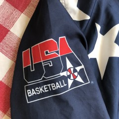 1996 Team USA Basketball Champion Olympic Warm Up Jacket Size Large