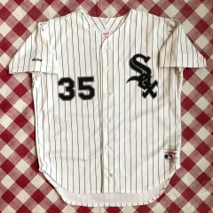 9e9f5ec2395 1991 Frank Thomas Chicago White Sox Authentic Rawlings MLB White Jersey Size  48