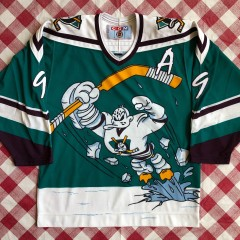 1996 Paul Kariya Anaheim Mighty Ducks Wild Wing CCM NHL Jersey Size Medium