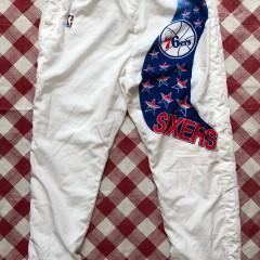 1991 Philadelphia Sixers 76ers Champion NBA Warm Up Pants Size XXL