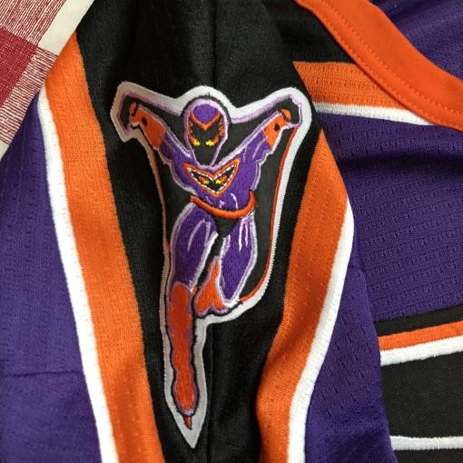 1996 Philadelphia Phantoms Bauer Purple AHL Jersey Size XL