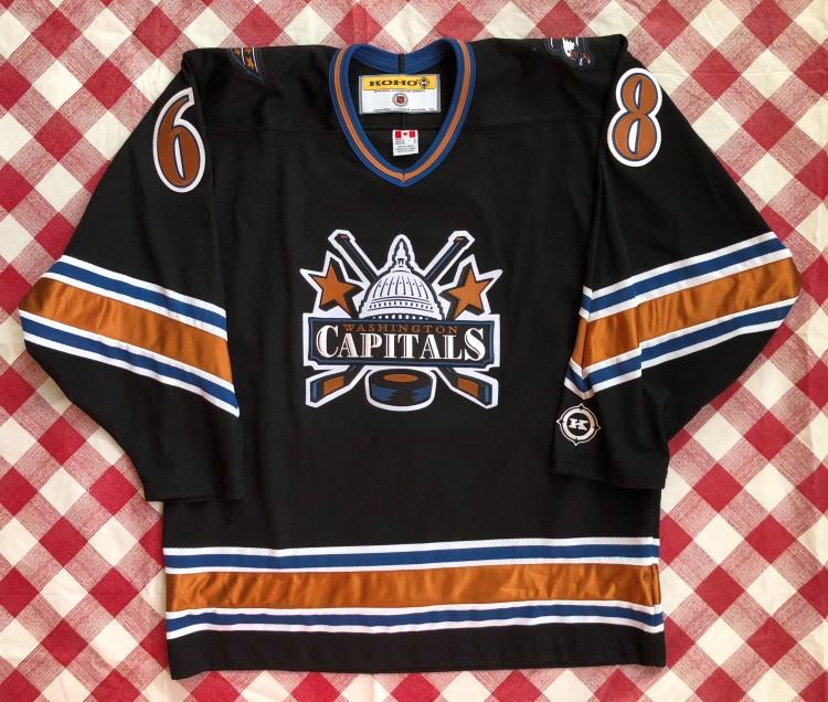 61d4e57fd12 2001 Jaromir Jagr Washington Capitals Koho NHL Jersey Size Large | Rare Vntg