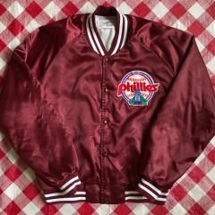 80's Philadelphia Phillies Chalkline Satin MLB Jacket Size Xl