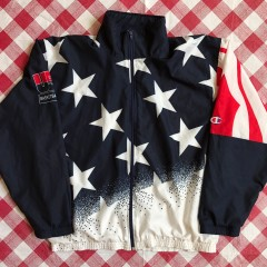 1996 Team USA Basketball Champion Olympic Warm Up Jacket Size XL